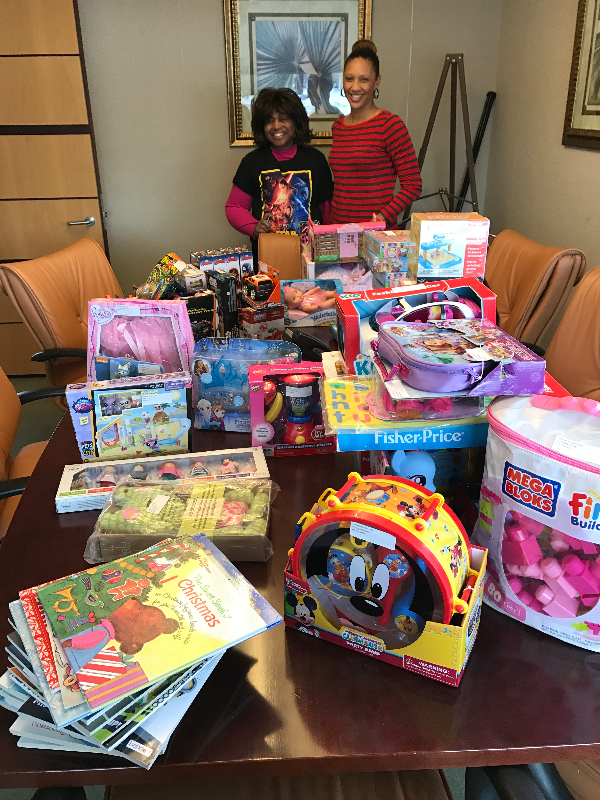 Image of the toy donations from Girl Flex